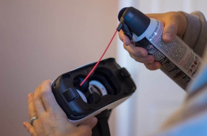 Samsung Gear VR советы пыль