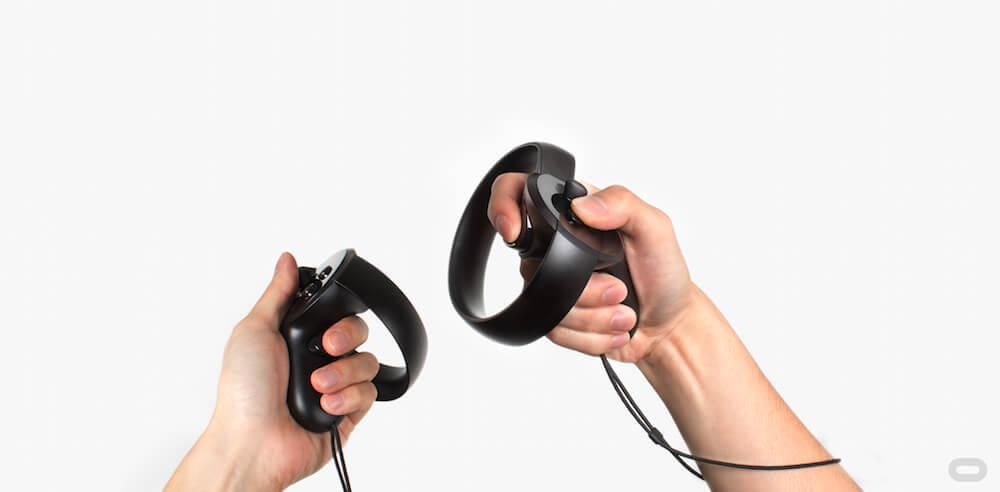 эргономика Oculus Touch