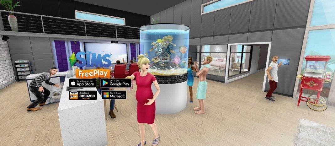 Мобильная игра The Sims FreePlay получит дополненную реальность в обновлении Brilliant Backyards